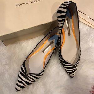 Sophia Webster | Zebra Pointed Toe Flats